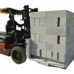 Tijolo concreto da empilhadeira hidráulica / bloco que levanta a braçadeira