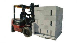Braçadeira de levantamento hidráulica do bloco de tijolos da empilhadeira concreta