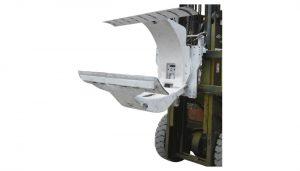 3 toneladas de empilhadeira diesel com o acessório de papel das braçadeiras do rolo