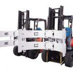 A empilhadeira parte a braçadeira de aço do rolo do papel do rotador dos acessórios da empilhadeira
