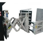 Braçadeiras de caixa com deslocamento lateral