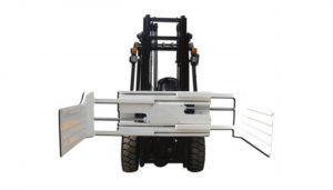 Equipamento de fixação de fardos de fardos para empilhador de grande capacidade de abertura com empilhador