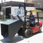 A cubeta diesel do acessório da empilhadeira de Hyundai de 3 toneladas articulou a forquilha e a cubeta