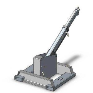 Carruagem de acoplamento fixa Machineal montado guindaste de lança empilhadeira