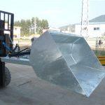 Empilhadeira de 3 toneladas com cubeta, cubeta hidráulica