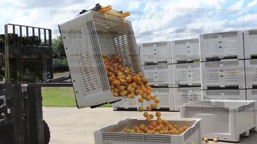 Bin Tipper Tipping Orange